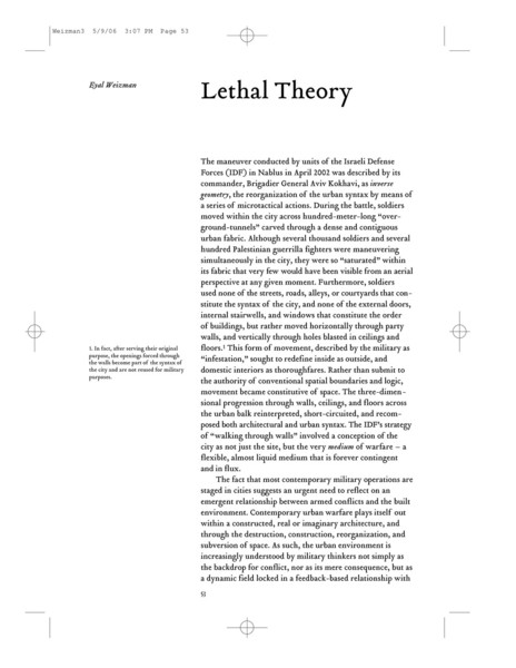 Weizman—Lethal Theory