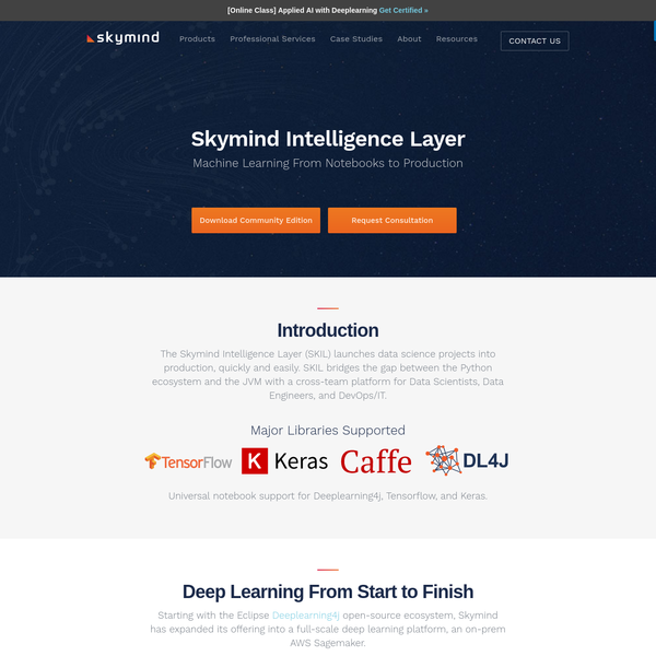Download the Skymind Intelligence Layer