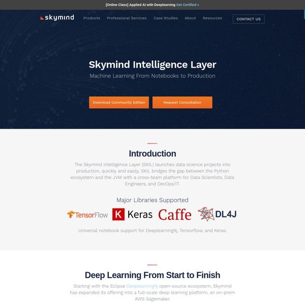 Skymind Intelligence Layer Community Edition