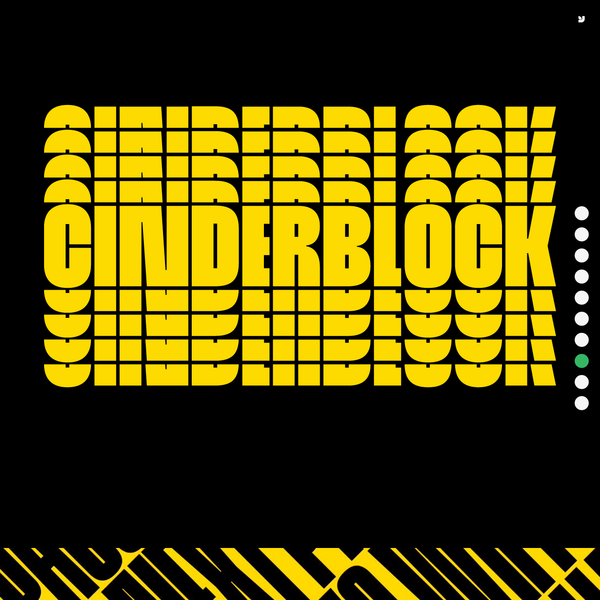 Cinderblock, the world's tallest typeface. If prisons are built with stones of law, then powerful words indeed are built with letters of Cinderblock-the World's Tallest Typeface. Inspired by masonry and available in eight heights-each version growing approximately 25% taller than the previous-Cinderblock is a brand new typeface designed to achieve maximum vertical coverage.