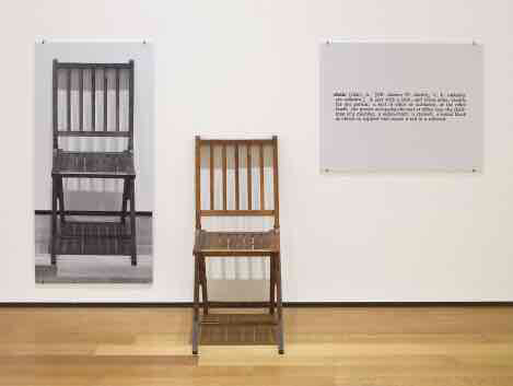 One and Three Chairs by Joseph Kosuth (1965)