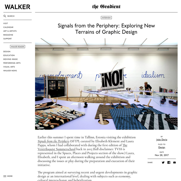 Designer João Doria interviews designers and curators Elisabeth Klement and Laura Pappa about their recent exhibition and book Signals from the Periphery and discusses the economy, cultural exchange, and hybridization of contemporary graphic design.