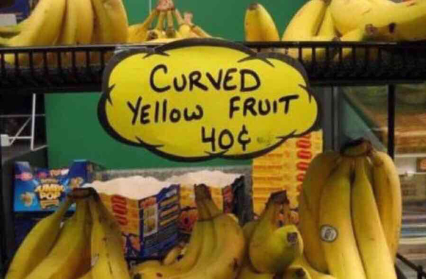 Curved yellow fruit 40¢