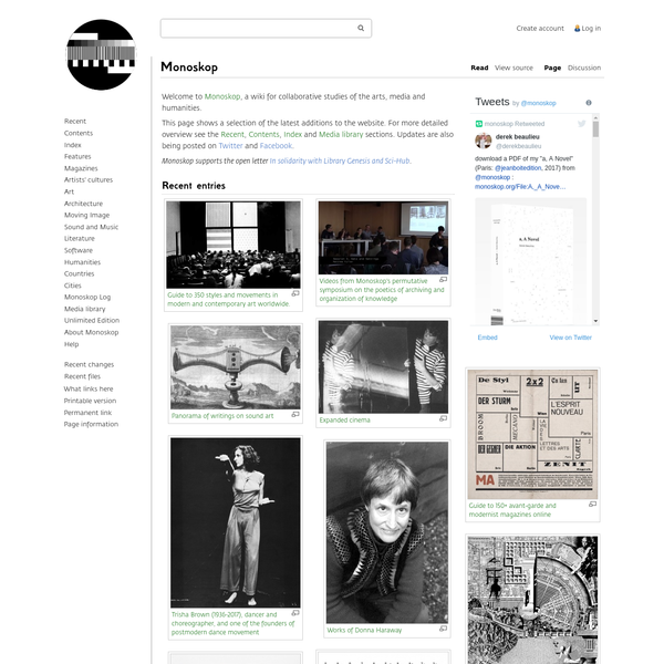 Wiki for Collaborative Studies of Arts, Media and Humanities