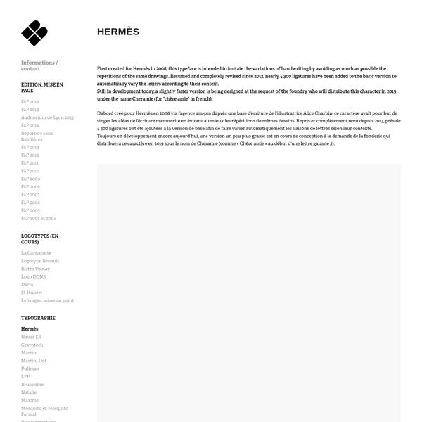 Éric de Berranger, graphiste typographe - Hermès