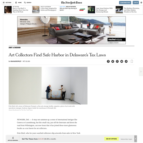 Art Collectors Find Safe Harbor in Delaware's Tax Laws