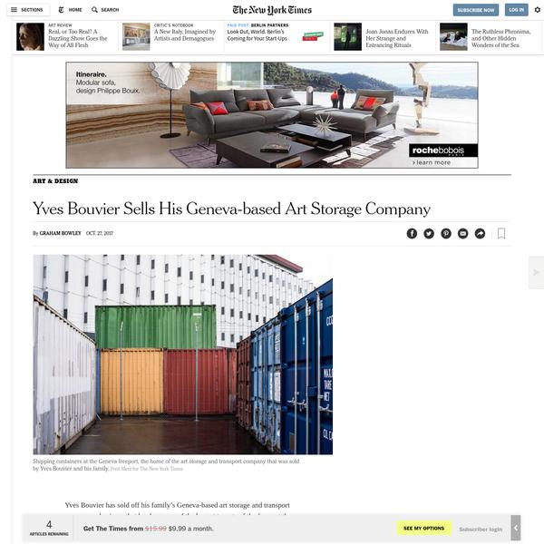 Yves Bouvier Sells His Geneva-based Art Storage Company