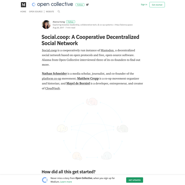 Social.coop: A Cooperative Decentralized Social Network