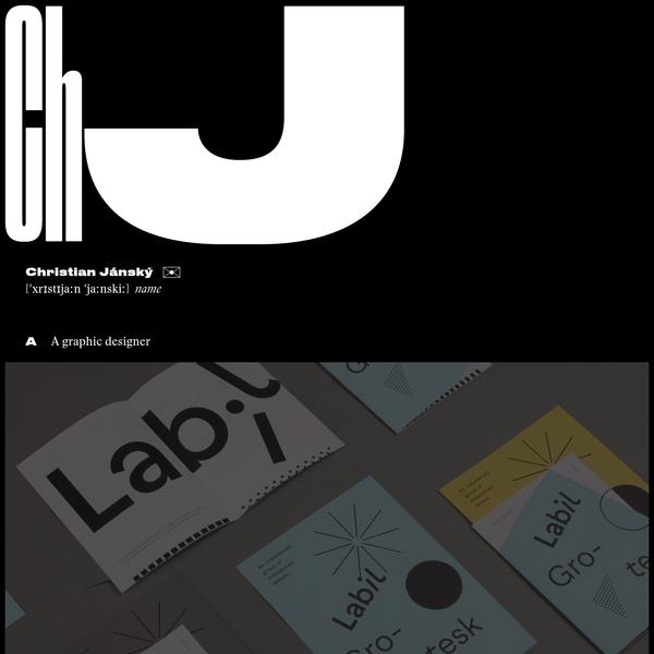 A graphic designer, a front-end developer and a male person.
