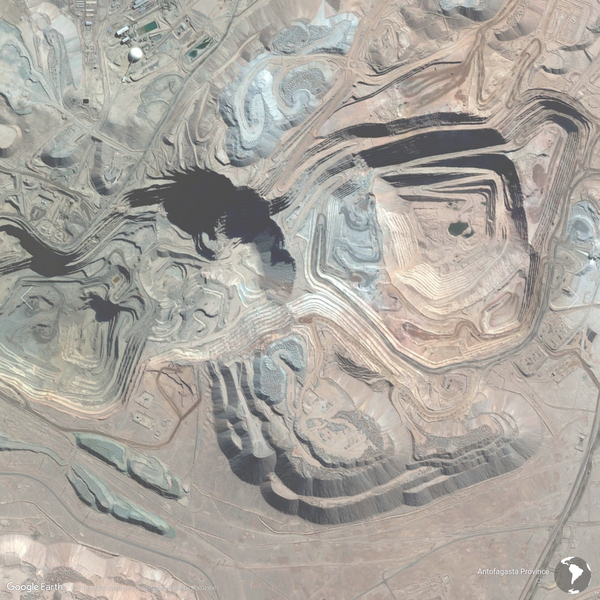 Antofagasta Province, Chile - Earth View from Google