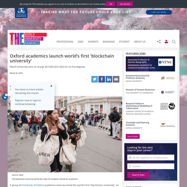 Oxford academics launch world's first 'blockchain university'