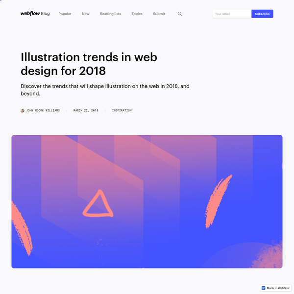 Illustration trends in web design for 2018 | Webflow Blog
