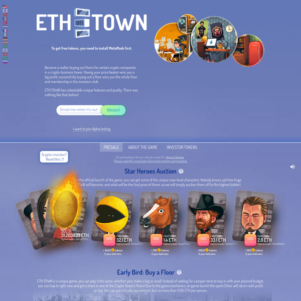 ETH.TOWN: To the new heights! The best Ethereum game.