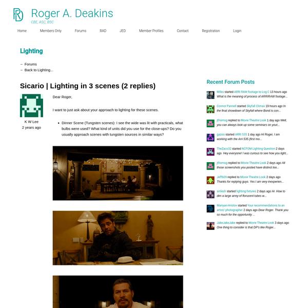 Sicario | Lighting in 3 scenes - Lighting - Roger A. Deakins