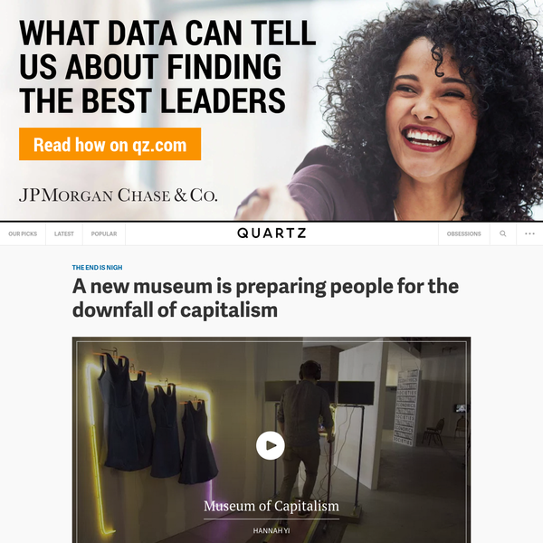 A new museum is preparing people for the downfall of capitalism