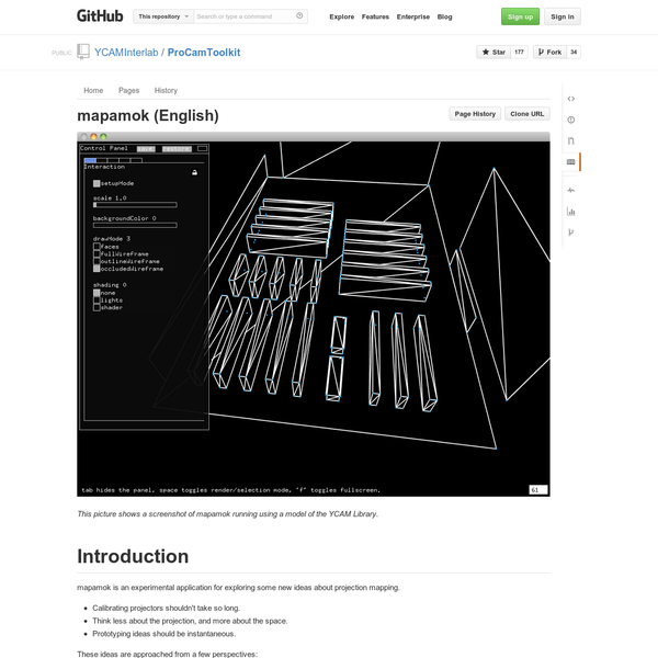 Are.na / (Dynamic) Projection Mapping on