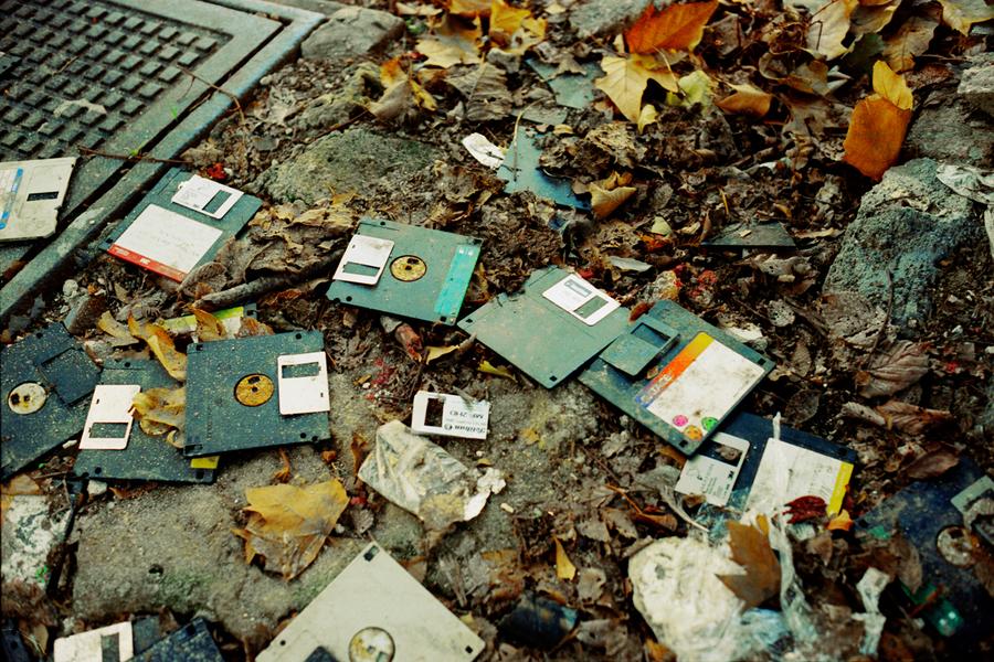 Floppy disk carnage
