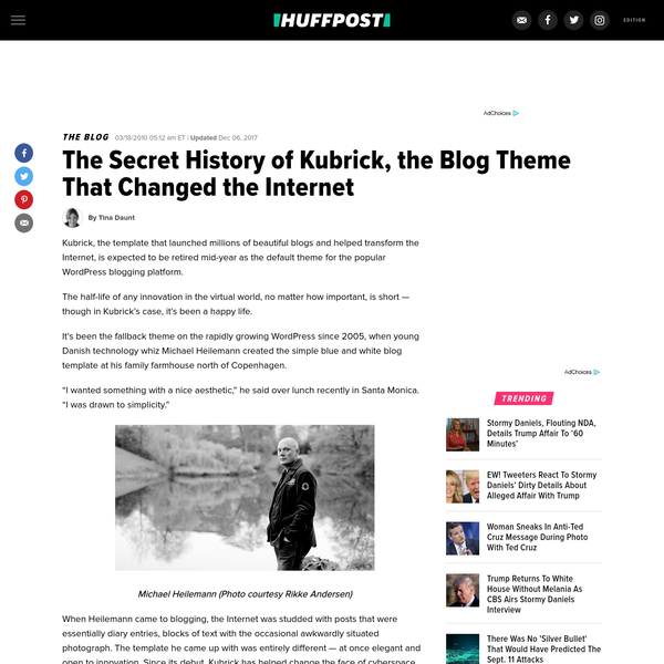 The Secret History of Kubrick, the Blog Theme That Changed the Internet