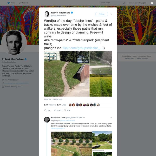Robert Macfarlane on Twitter