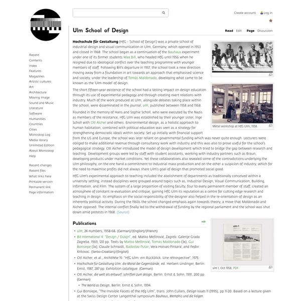 Ulm School of Design - Monoskop