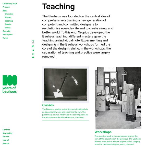 Teaching : Bauhaus100