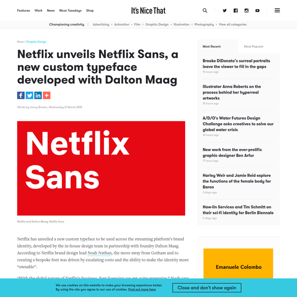 Netflix unveils Netflix Sans, a new custom typeface developed with Dalton Maag