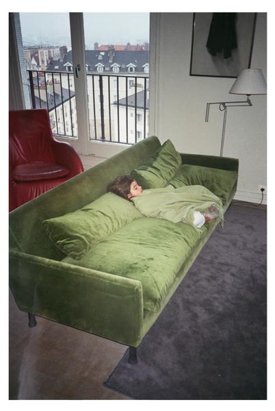 analogic photography green girl furniture