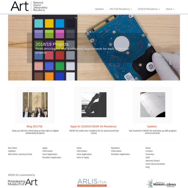National Digital Stewardship Residency for Art Information