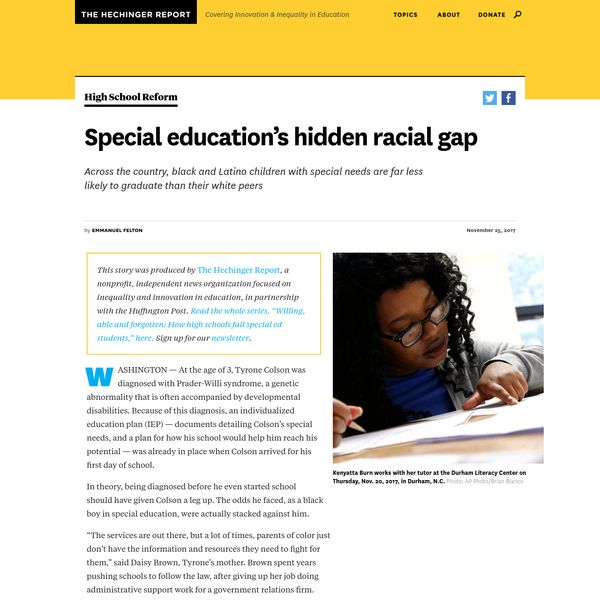 Special Educations Hidden Racial Gap >> Are Na Race And Special Education