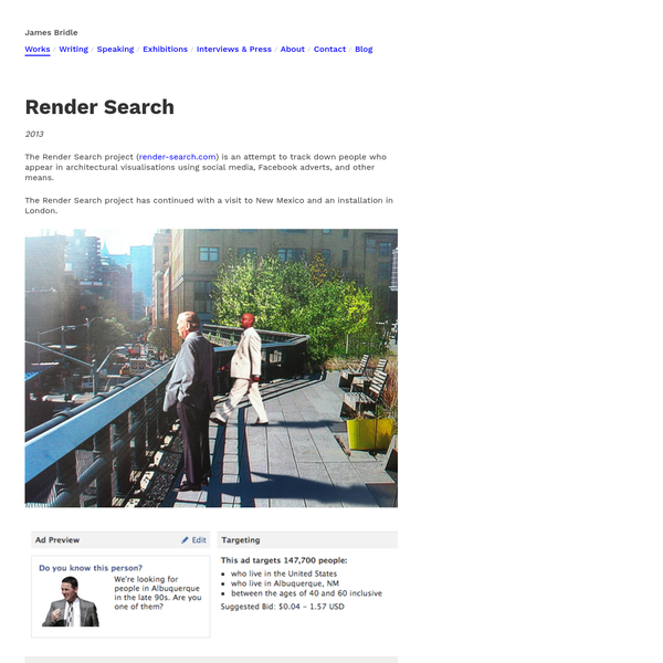 James Bridle / Render Search