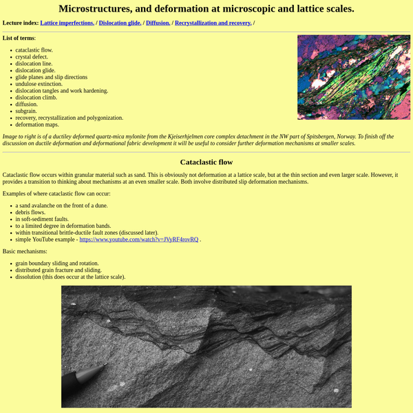 structure lecture notes - microstructures, dislocation glide and climb