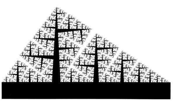Mandelbrot, Benoit, _The Fractal Geometry of Nature_ [1977] (San Francisco: W. H. Freeman and Company, 1982), p. 57.
