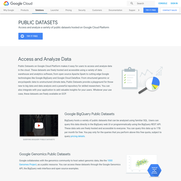 Free Public Datasets on Google Cloud Platform makes it easy for users to access and analyze big data in the cloud.