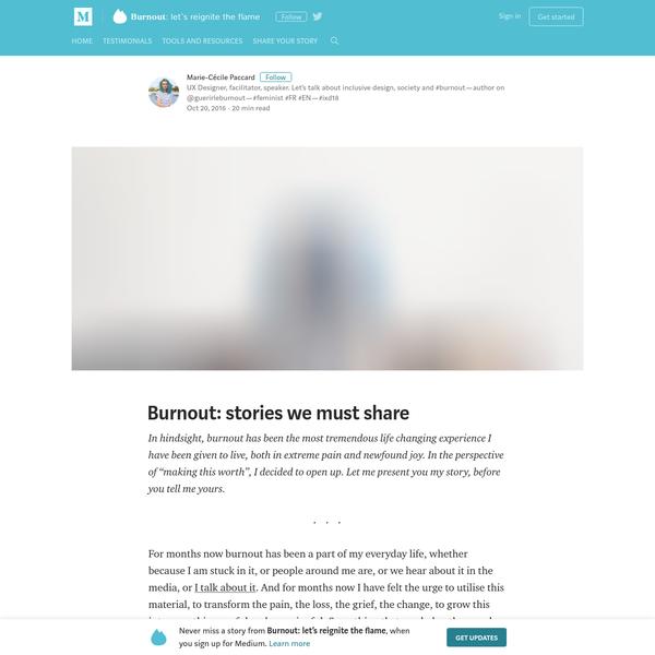 Burnout: stories we must share - Burnout: let's reignite the flame - Medium
