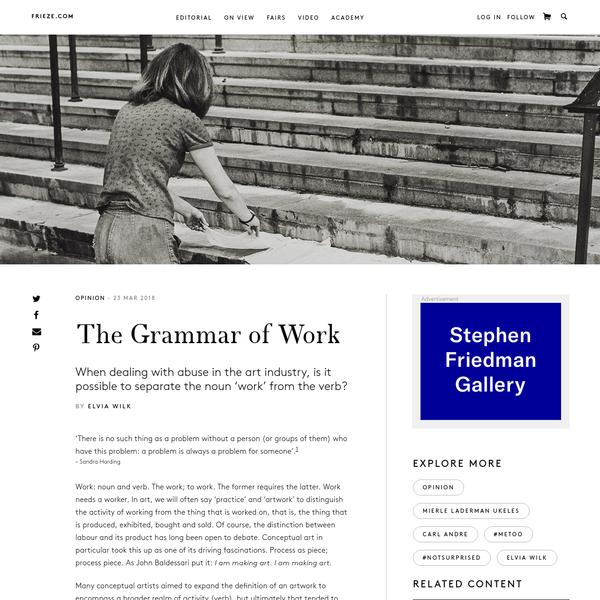 The Grammar of Work