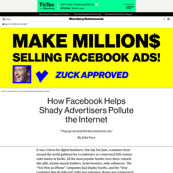How Facebook Helps Shady Advertisers Pollute the Internet