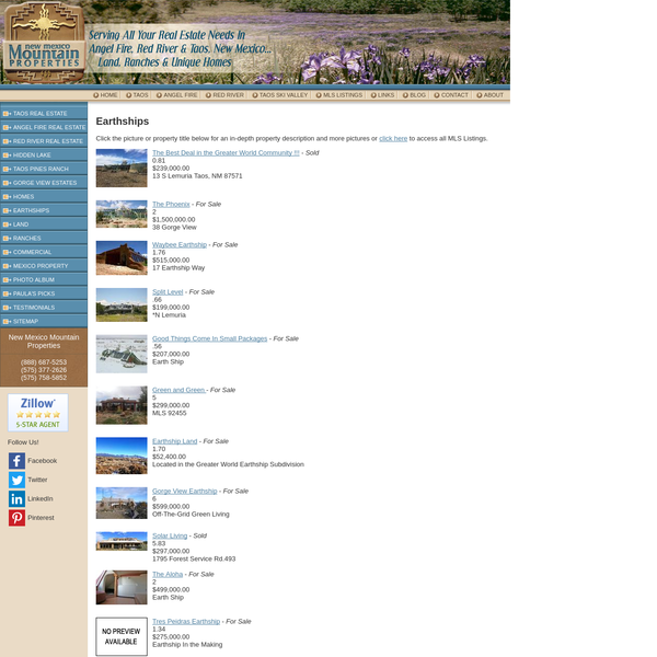 Earthships for sale