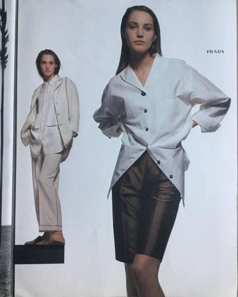 PRADA 1990 Styled by the late Manuela Pavesi, photos Albert Watson and starring the beautiful Cecilia Chancellor. Email rarebooksparis@gmail.com #prada #manuelapavesi