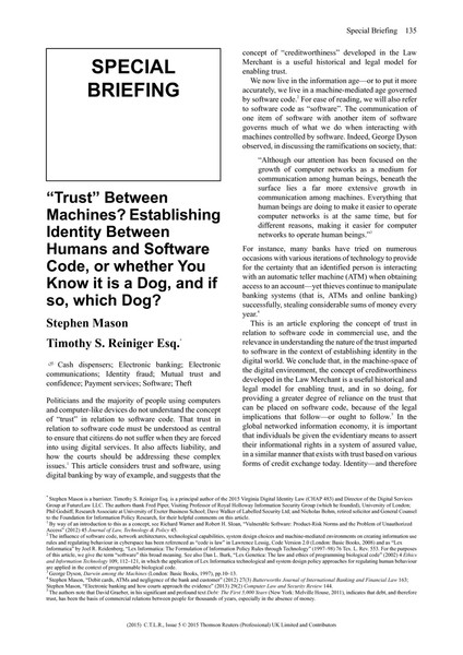 Trust-Between-Machines-Establishing-Identity-Between-Humans-and-Software-Code-2015_21_CTLR_issue_5_PrintFINALMASON.pdf
