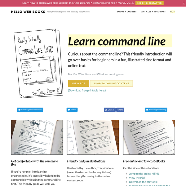 Learn command line basics with this friendly illustrated 24-page zine. Online text and other formats also available.