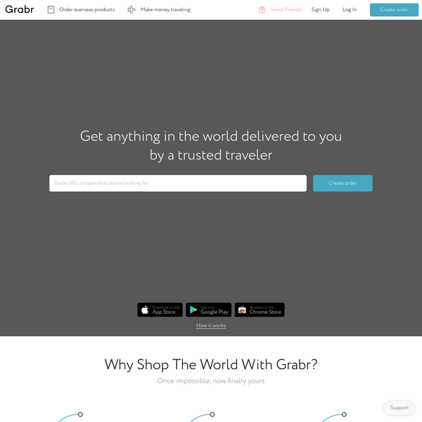 Shop Overseas Products with International P2P Delivery | Grabr