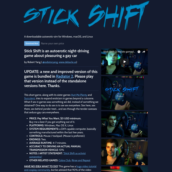 Stick Shift by Robert Yang