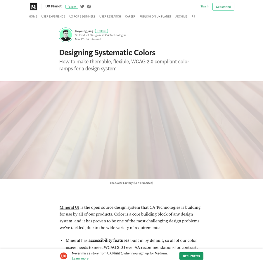 How to make themable, flexible, WCAG 2.0 compliant color ramps for a design system Mineral UI is the open source design system that CA Technologies is building for use by all of our products.