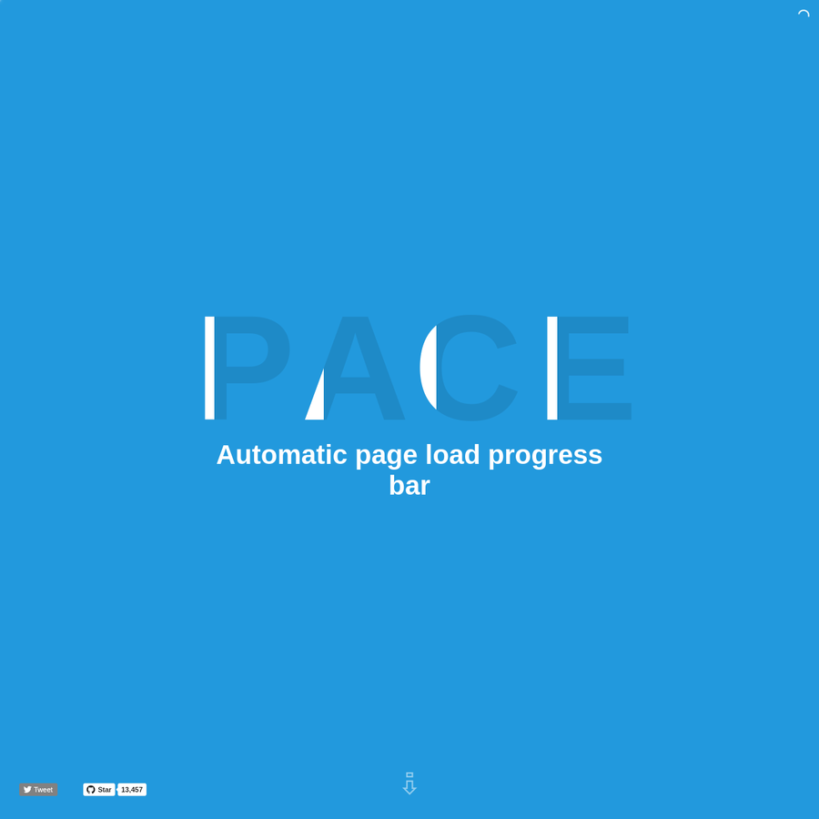 Pace is a Javascript and CSS library to automatically add beautiful progress and activity indicators for page loads and ajax navigation. It is free and open source and was developed by HubSpot developers Adam Schwartz (@adamfschwartz) and Zack Bloom (@zackbloom).