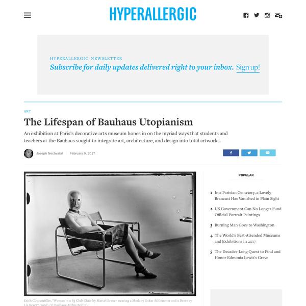 The Lifespan of Bauhaus Utopianism
