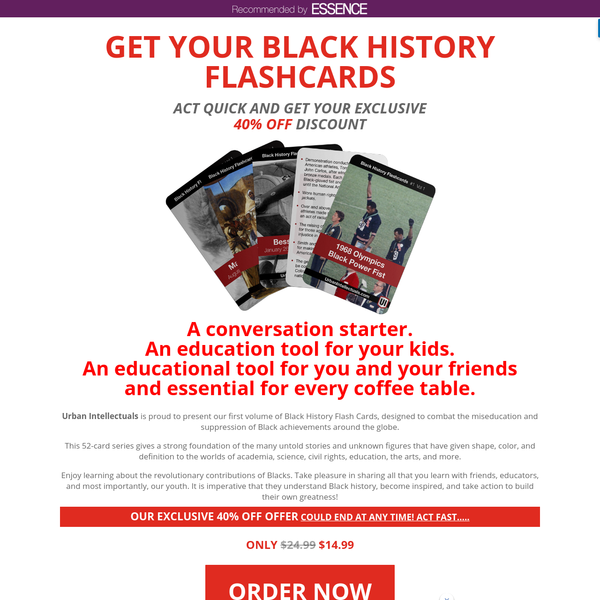 Black History Flashcards, Vol 1 | Urban Intellectuals Store