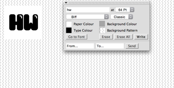 lineto.com uses this classic macintosh-ish panel for navigation and font customizing. It's quirky and fun and reminds me of someone else's classic InDesign graphic design days.