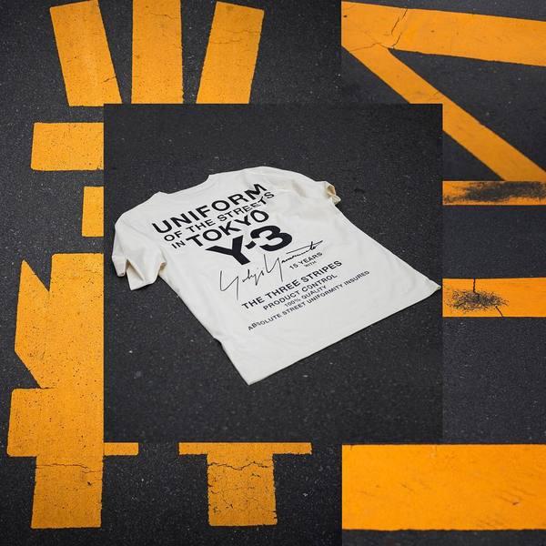 Y-3 Tokyo #UniformOfTheStreets Limited Edition tee-shirt available October 20th at Y-3 Omotesando Hills in Tokyo. 📸: @eva.al.desnudo #adidas #Y3 #YohjiYamamoto