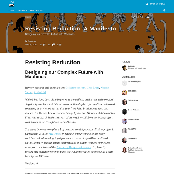 Resisting Reduction: A Manifesto