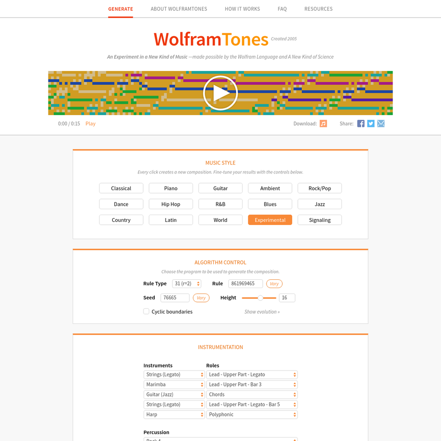 Listen to what I just found in the WolframTones music universe